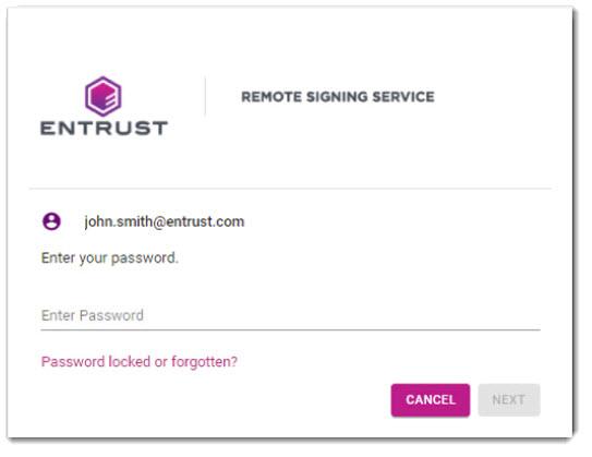 Password Screen